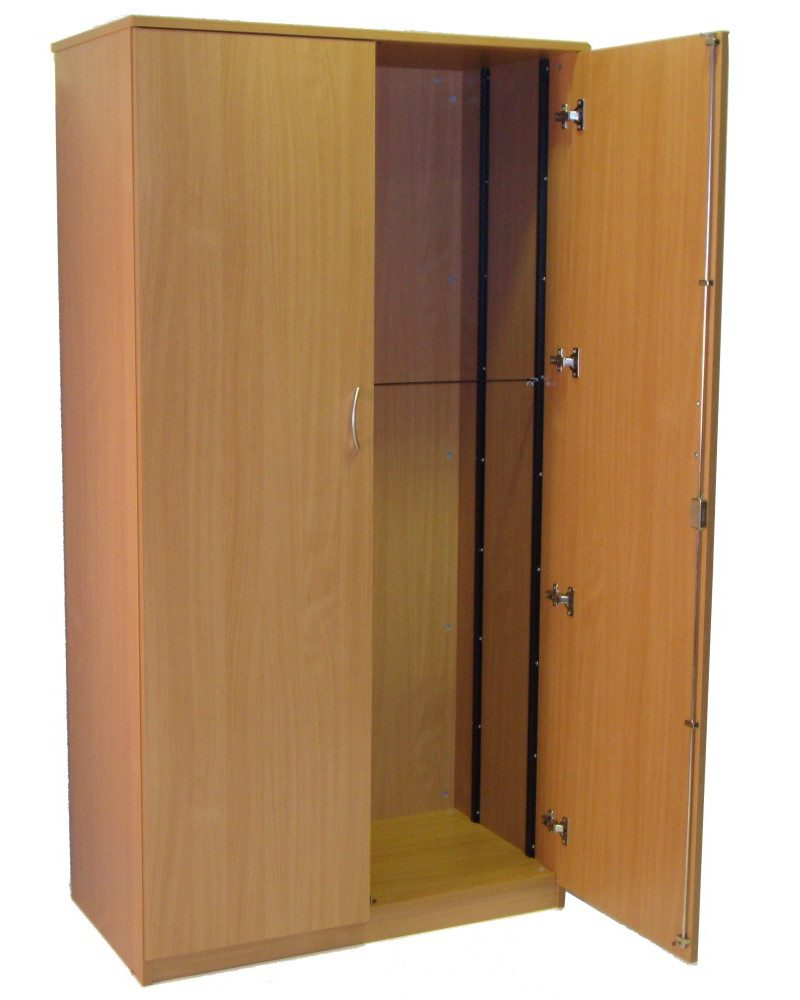 Wooden storage cupboard lauren james office interiors ltd for Storage in cupboards