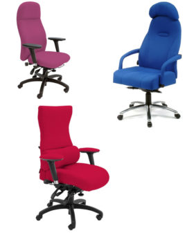 Back care chairs